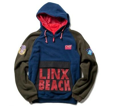 Linx Beach commerative fleece hoodie (Ralph Lauren SNOW BEACH retro)
