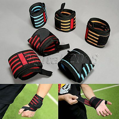 1Pair Wrist Support Straps Wraps For Weight Lifting Training Fitness Wristband
