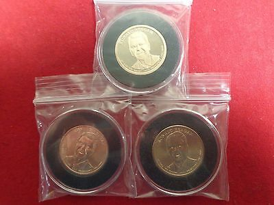 3 Coin Set 2016  President Reagan  Presidential Dollar Coins Denver Philly Proof