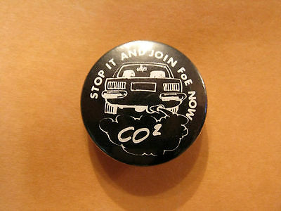Friends Of The Earth Co2 Button Pin Badge Uk Import Environment Greenpeace