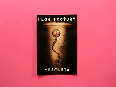 "Official 1998 Fear Factory Postcard Uk Made  ""obsulate"""