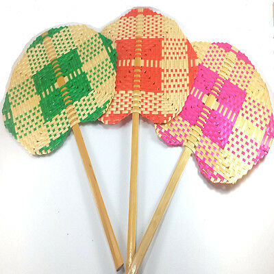 Buy 2 Get 1 Fan Hand Make from Bamboo Handcrafted of Thai Free Shipping