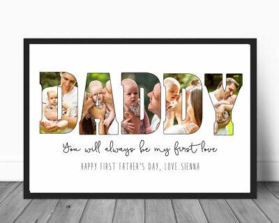 Father's Day Gift Printable Photo Personalised 1st Father's Day First Love