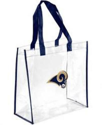Los Angeles Rams Clear Reusable Plastic Tote Bag NFL 2019 Stadium Approved