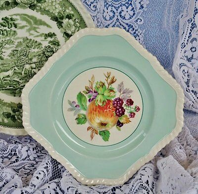 Vintage 1960's *JOHNSONS BROTHERS - ENGLAND* Peppermint Green Cake/Biscuit Plate