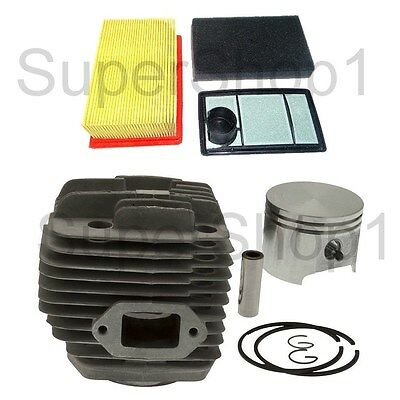 Cylinder & Piston + Air Filter for Stihl TS400 Cutoff Saw 49mm Rep 4223 020 1200