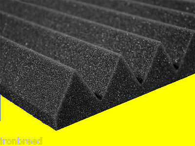 "24"" x 24"" x 2"" Acoustic Wedge Studio Soundproofing Foam Wall Tiles (12 Pack)"