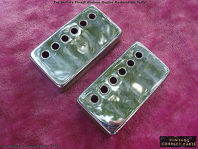 Vintage Gibson 1965 Chrome Patent Sticker PAF pickup cover set 1966 67 ES-335 SG