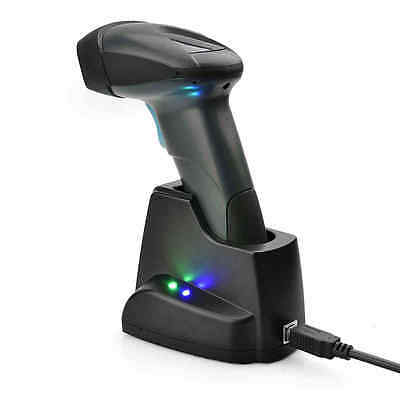 New Handheld 1D Wireless Barcode Scanner With Charging Stand Durable Fast Scan