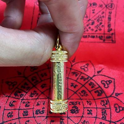 Thai Amulet Power Magic Maha Takrud Luck Rich Wealth Protecting Antigue Style