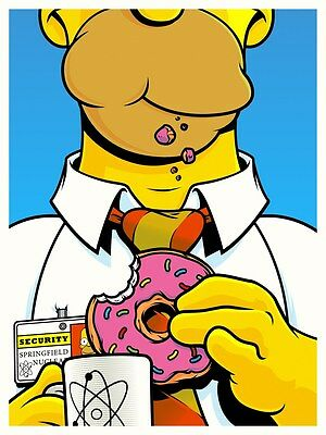 Joshua Budich Fictional Food Poster The Simpsons Homer Signed A/P Artist Proof