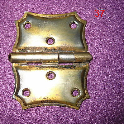 Old Antique Vintage 1 Single Butterfly Cabinet Steel Plated Brass Hinge # 37