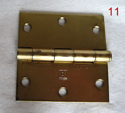 Old Antique Vintage 1 Single Butt Door Steel Plated Brass Hinge New #11