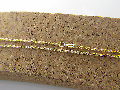 Real 14k yellow gold rope  necklace  chain 2mm solid 14kt gold chain