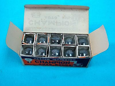 10 NOS CHAMPION 1183 LIGHT BULBS 6 VOLT with EXCEPTIONAL GRAPHICS ON THE BOXES