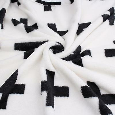 2016 Cute Blanket Baby Black White Bedding Blanket Baby Rabbit Cross Blanket