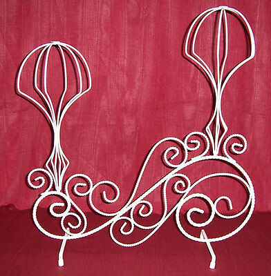 Double Hat Stand - White Twisted Wire