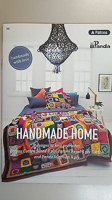 Unique Pattern Book #358 Hand Made Home 9 Designs to Knit & Crochet