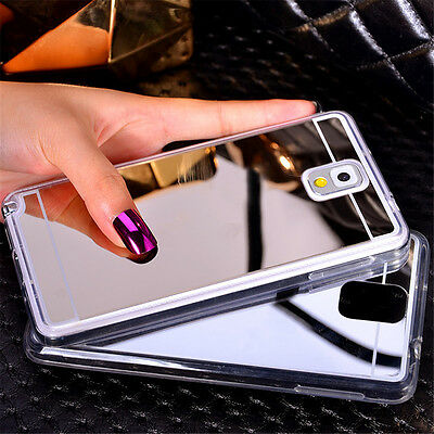 Luxury Ultra-thin Mirror Soft TPU Phone Back Case Cover For Samsung S8 A5 A7 S7