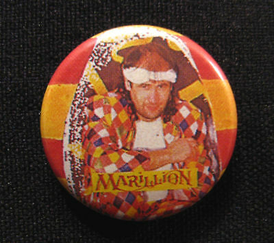 """MARILLION BADGE FROM THE 80's  1"""" BUTTON PIN VINTAGE"""