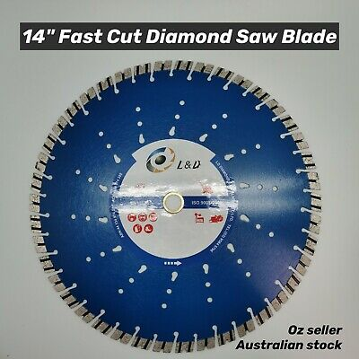 "3PK 14"" (350mm) Premium Speedy Laser welded diamond saw blade demo saw blade"