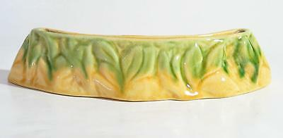 Florenz (Florence Williams) Float Bowl with Moulded Leaves. Australian Pottery