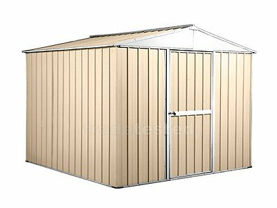 Garden Shed 2.6m x 2.6m x 2.1m Cream Storage Sheds NEW
