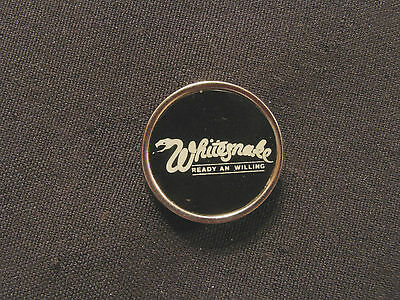 Round Whitesnake Vintage Pin Badge Button Uk Made