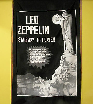 "Led Zeppelin Vintage Flag Wall Banner ""stairway To Heaven"""