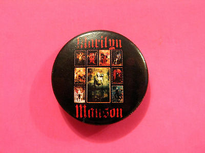 Official Marilyn Manson Badge Pin Button Uk Import 2004