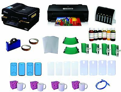 3D Pro Sublimation Heat Press Machine Epson Printer 1430 CISS KIT