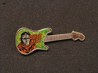 Quiet Riot Prismatic Vintage Guitar Shaped Pin  Button Uk Import
