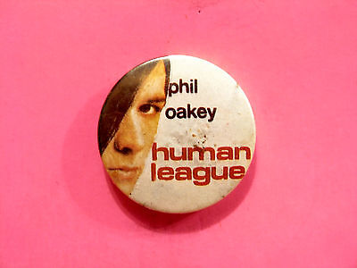 Vintage Human League Badge Button Pin Uk Made