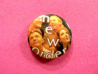 "Vintage 1"" New Order Badge Button Pin Uk Import"