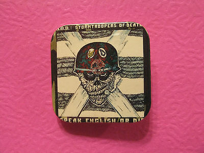 S.o.d Square Button Badges Pin