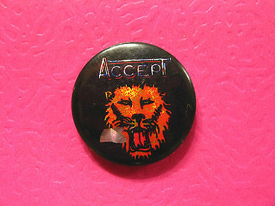 Accept Prismatic Badge Button Pin Uk Made