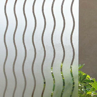 45x100cm Decorative wavy frosted window film stained glass vinyl paper privacy
