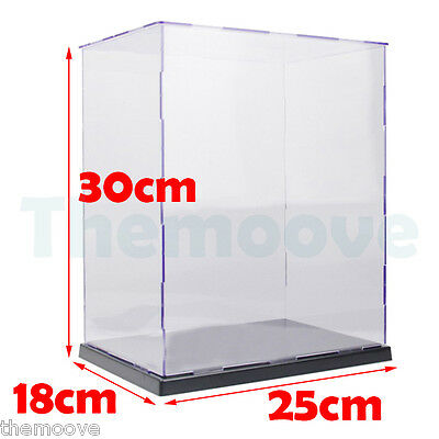 Acrylic / Plastic Display Case Self-Assembly Box Dustproof Protection Toy 30cm