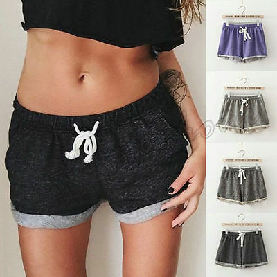 Fashion Women Ladies Summer Casual Shorts Beach Short High Waist Pants Size 6-14