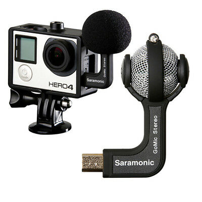 Saramonic GoMic Mini Stereo Ball Microphone Mic for Gopro Hero Action Camera