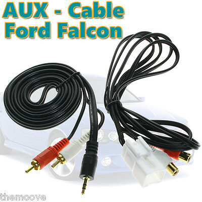 Aux in Cable Adaptor for iPod iPhone 6S Plus Ford Falcon Territory Ba Bf XR6/8