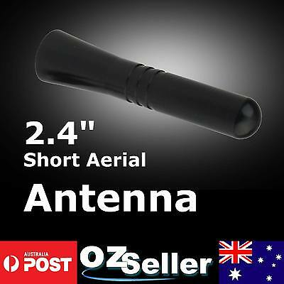 6cm Stubby Black Aluminum Auto Car Short Antenna FM AM Signal Universal Screws