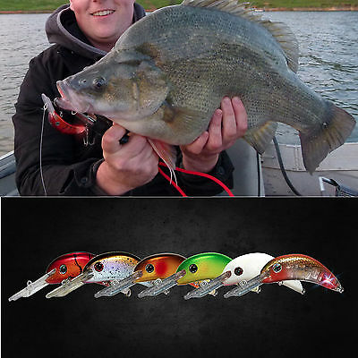 Cod lures - LED technology - Balista Dyno 60 x 6 - Yellowbelly, Red Fin
