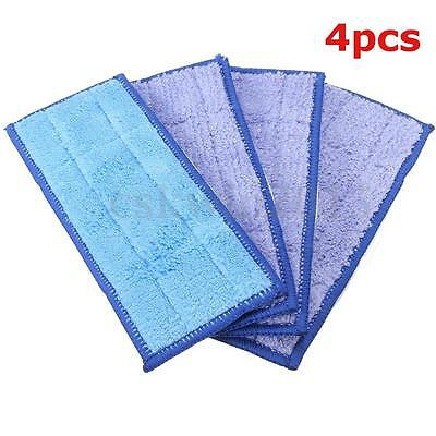 4PCS Mopping Pads Washable Damp & Dry Mop Replacement For iRobot Braava Jet 240