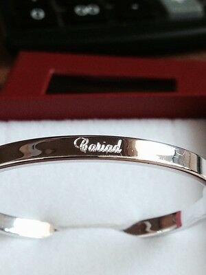 WELSH CARIAD Baby Bangle **FREE ENGRAVING* 925 Sterling Silver