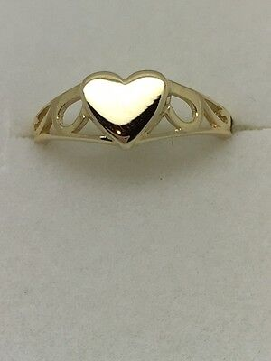 Baby / Child Solid 9 Carat Gold Heart Ring **FREE ENGRAVING** UK Jeweller