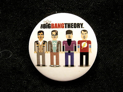 "The Big Bang Theory 1 1/4"" Button Badge Official ""group Cartoon"""