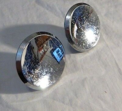 2 Vintage Salvage Ajax Chrome Drawer Pull Knob 2~1/2""