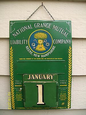 Old National Grange Mutual Liability Insurance Company Perpetual Calendar