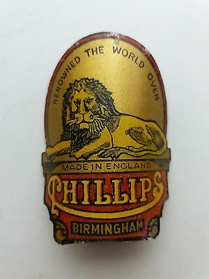 PHILLIPS Yellow Color 1970's Badge Emblem For Vintage Bicycle NOS Free Shipping